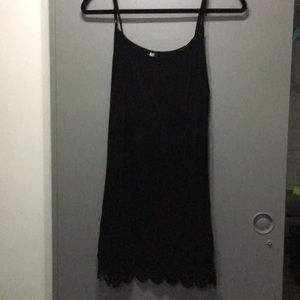Black slip for underneath a dress